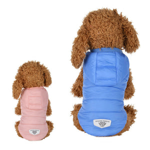 Pastel Colors Warm Winter Vest With Hoodie For Small Dogs - Woof Apparel