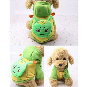 Cute Cartoon Caterpillar Pocket Warm Fleece Lining Hoodie For Dogs - Woof Apparel