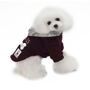 Bone Pattern This Is My Food Small Dog Winter Jacket - Woof Apparel