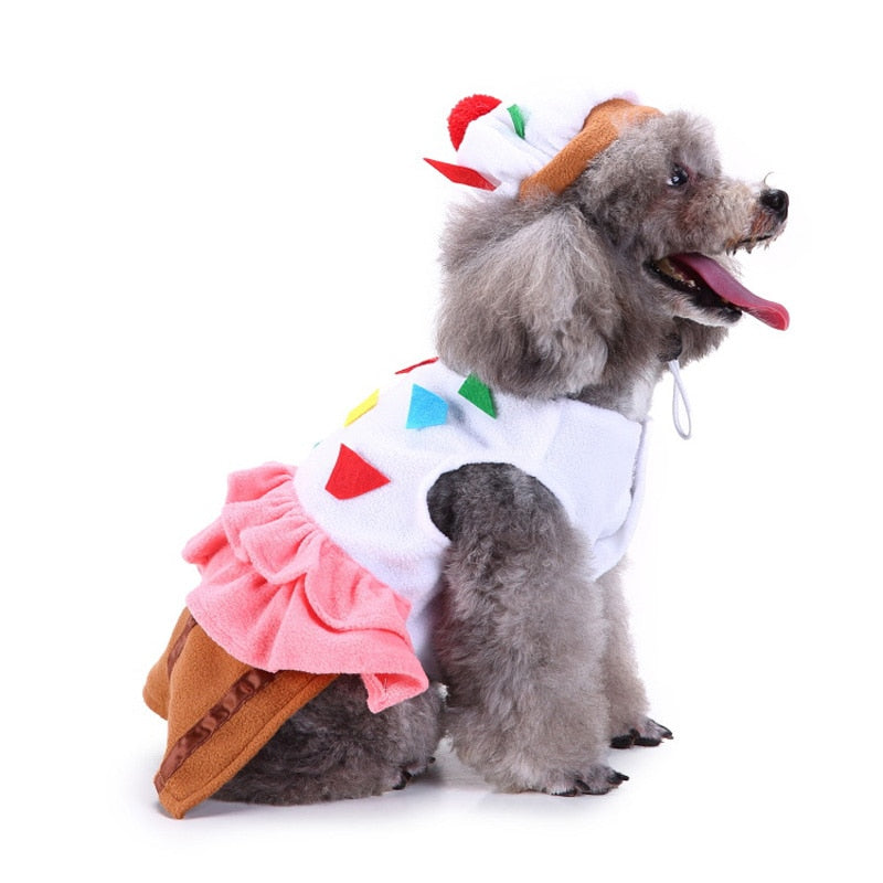 Colorful Party Costume With Geometric Patterns For Your Dogs - Woof Apparel
