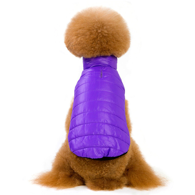 Candy Color Small Dog Winter Puppy Waterproof Vest - Woof Apparel