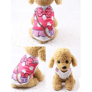 Pink Ribbon Heart Print Cotton Spring Small Dog Shirt - Woof Apparel