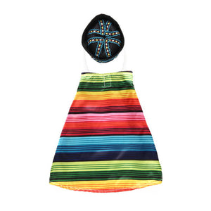 Colorful Stripe Coat Costume for Dogs - Woof Apparel