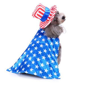 Red And White Stripes Magician Costume For Your Cute Dogs - Woof Apparel