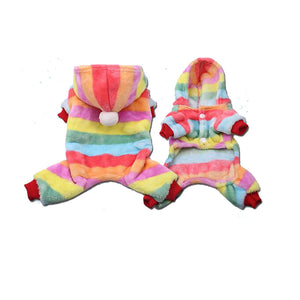 Cute Print Warm Soft Fleece Winter Jumpsuit For Small Dogs - Woof Apparel