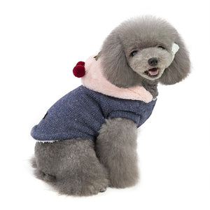 Cherry Soft Knit Warm Fleece Hooded Winter Vest For Dogs - Woof Apparel