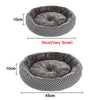 Asymmetric Round Fleece Design Pet Cushion Dog Bed - Woof Apparel