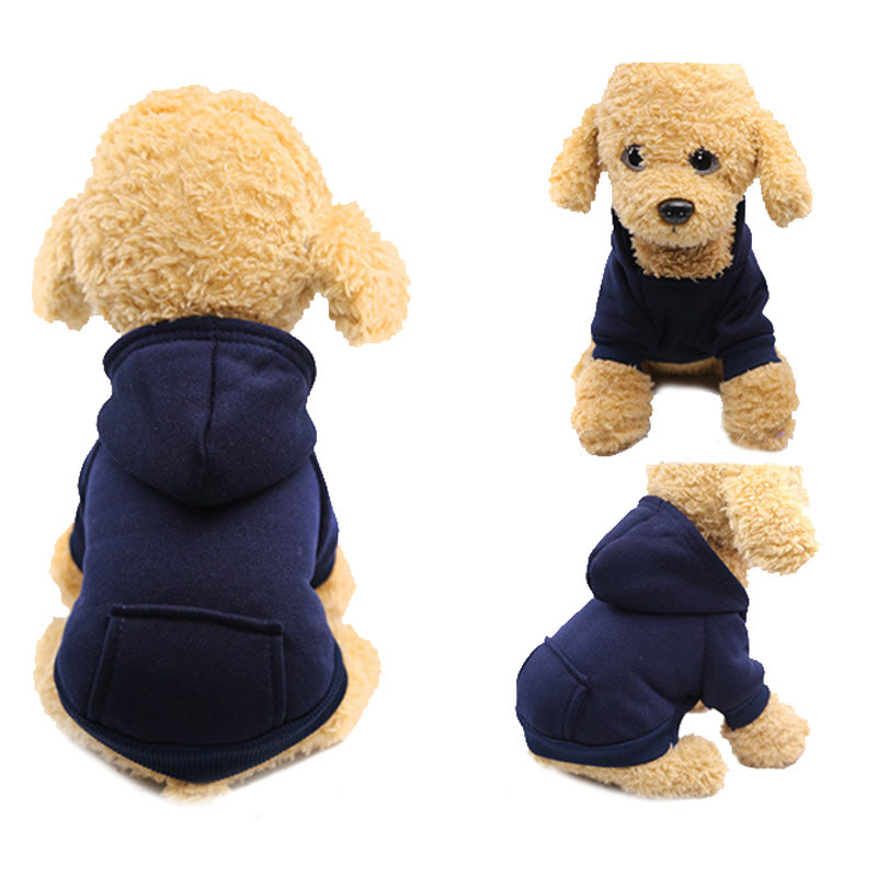 Warm & Comfy Fur Fall Winter Soft Fleece Hoodie for Dogs - Woof Apparel