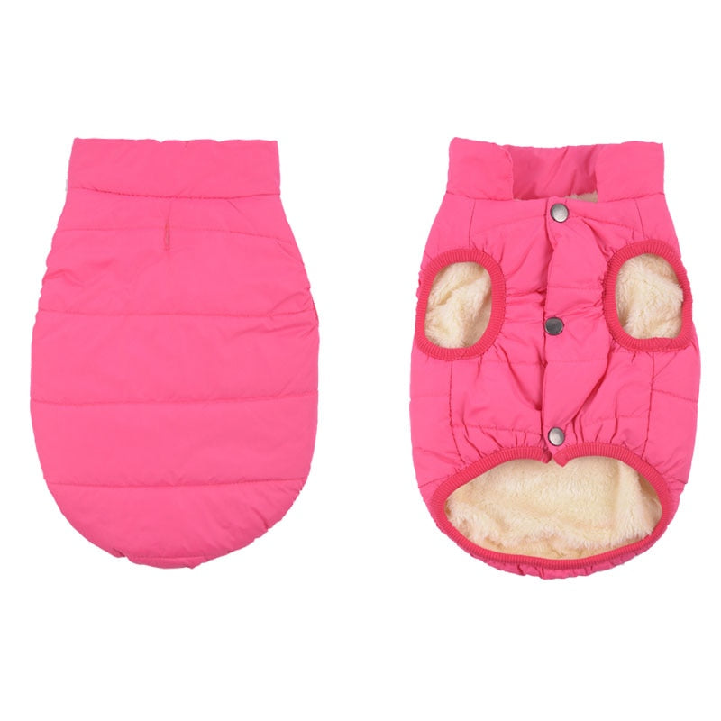 Thick Fleece Lining Warm Winter Vest For Small Dogs - Woof Apparel