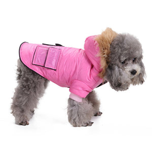 Warm Fur Autumn And Winter Coat With Pockets For Small Dogs - Woof Apparel