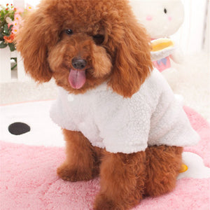 Fluffy Sheep Fleece Winter Cute Hoodie Costume for Dog - Woof Apparel