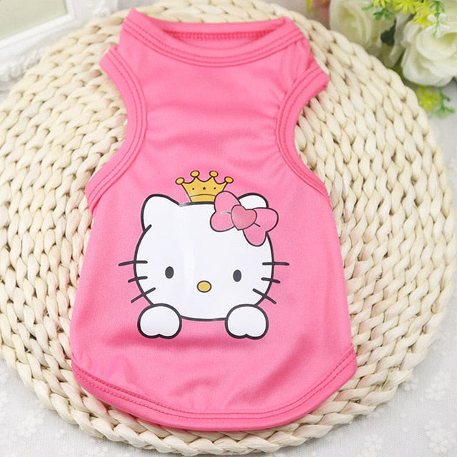 Sweet Hello Kitty Princess Summer Outfit Small Dog Shirt - Woof Apparel