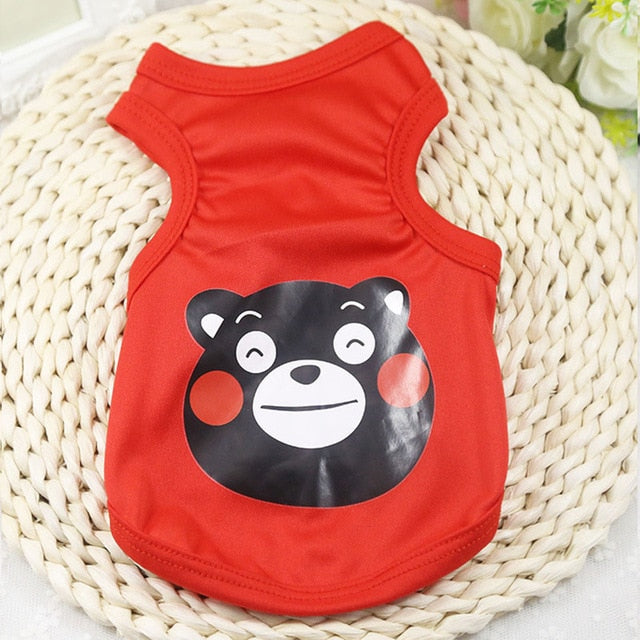 Cheerful Black Panda Spring Outfit Small Dog Shirt