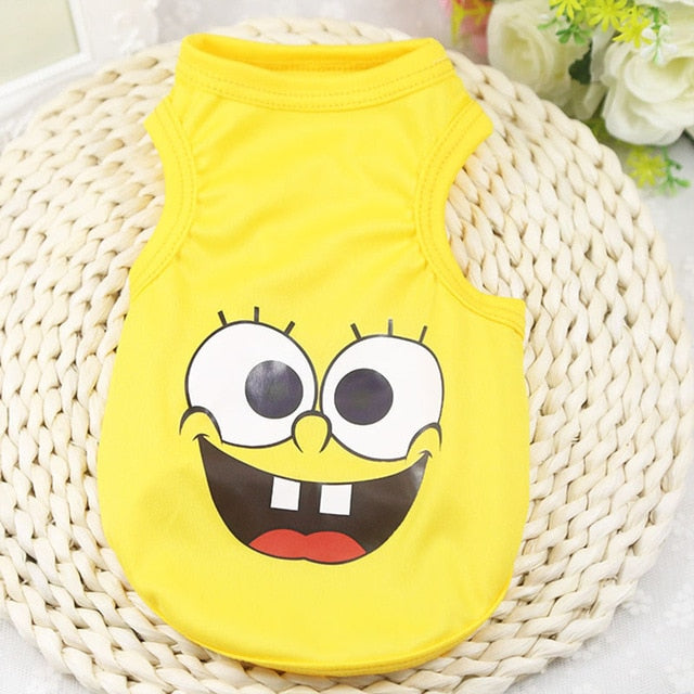 Smiling Spongebob Squarepants Spring Yellow Puppy Shirt - Woof Apparel