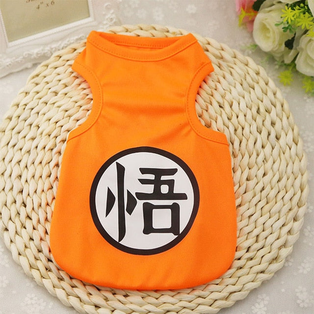 Cute Goku Kanji Symbol Design Summer Orange Puppy Shirt