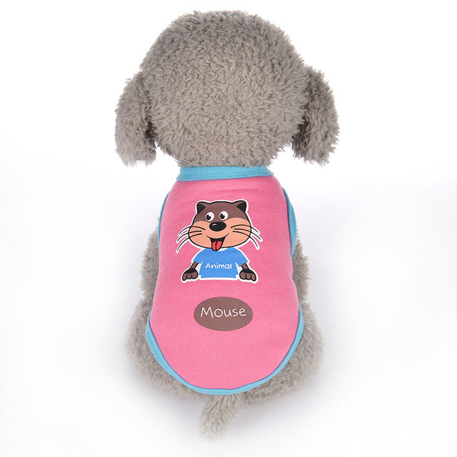 Playful Mouse Design Pink Summer Small Dog Tank Top - Woof Apparel