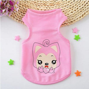 Adorable Pink Fox With Heart Spring Outfit Dog Shirt - Woof Apparel
