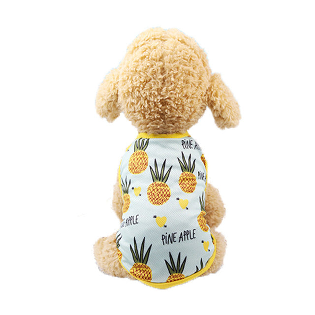 Pineapple Design Yellow Lining Summer Puppy Tank Top - Woof Apparel