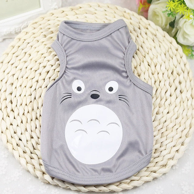 Charming My Neighbor Totoro Summer Gray Puppy Shirt