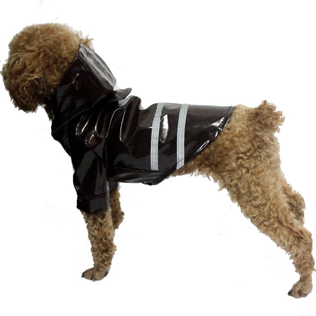 Waterproof Hoodie With Safety Reflective Stripe Raincoat - Woof Apparel