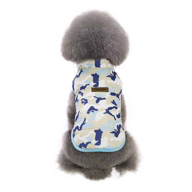 Camo Soft Warm Autumn Soft Fleece Vest for Puppy Small Dogs - Woof Apparel