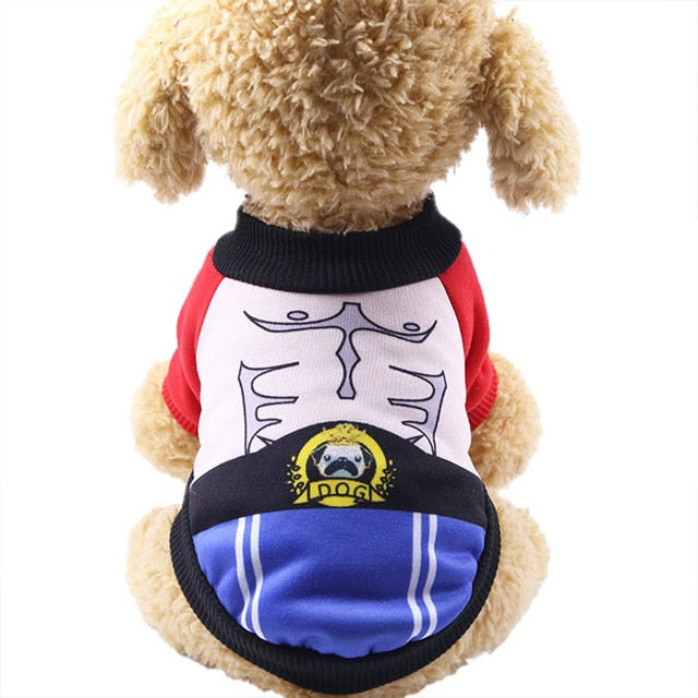 Adorable Boxer Outfit Winter Warm Coat Small Dog Sweater - Woof Apparel