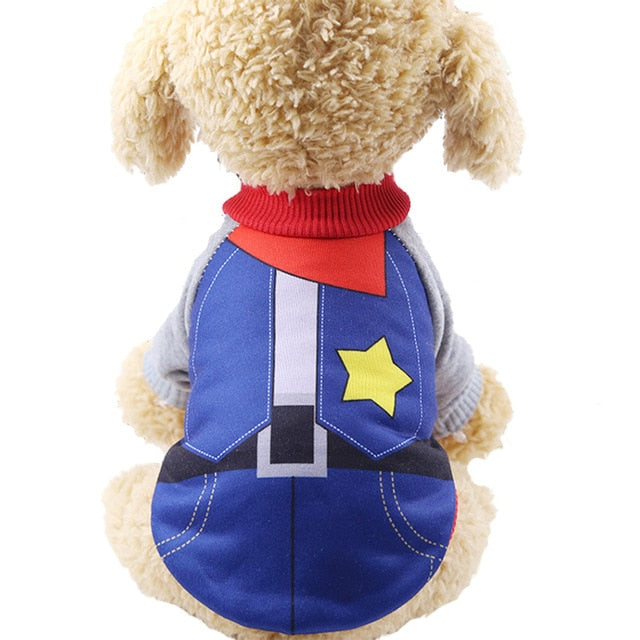 Cute Little Cowboy Soft Dog Winter Coat Puppy Sweater - Woof Apparel