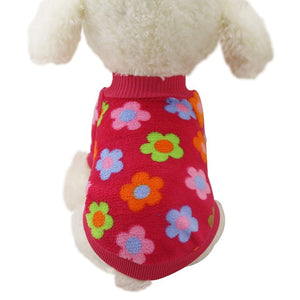 Cute Pattern Soft Fleece Winter Sweater For Small Dogs - Woof Apparel