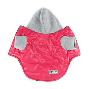 5 Colors Winter Jacket Coat Warm Puppy Dog Clothes With Hood - Woof Apparel