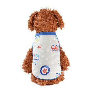 Soft Fleece Warm Cartoon Print  Winter Vest For Small Dogs - Woof Apparel