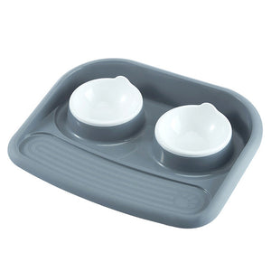 Double Bowl Dish 4 Color Food And Water Dog Feeding - Woof Apparel
