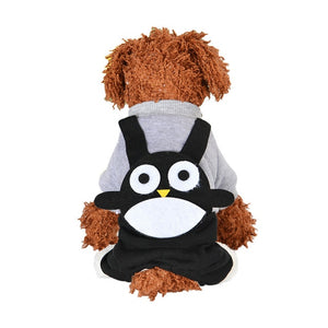 Cartoon Winter Dog Jumpsuit Puppy Overalls For Small Dogs - Woof Apparel