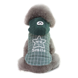 Plaid Star Print Green Gray Thick Warm Winter Hoodie - Woof Apparel