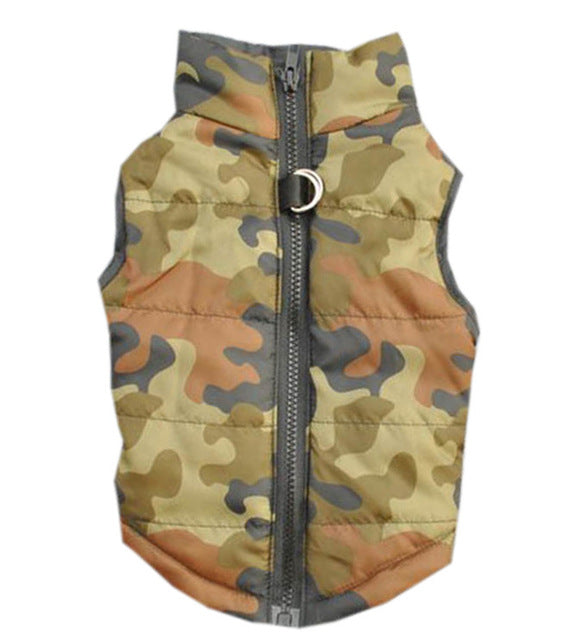 Cool Pattern Windproof Padded Jacket Outfit Puppy Vest - Woof Apparel