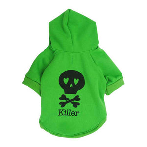 Cool Skull Soft Cotton Fleece Lining Hoodie For Small Dogs - Woof Apparel