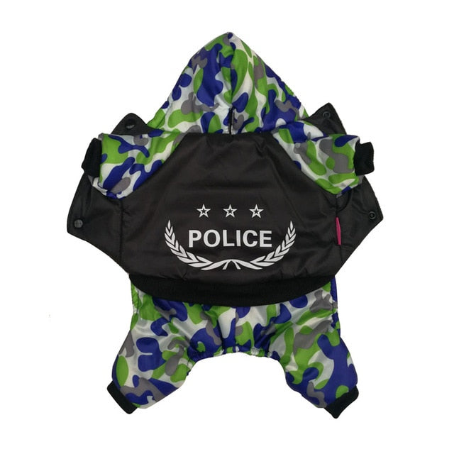 Three Star Police Camouflage Costume For Your Cool Dogs