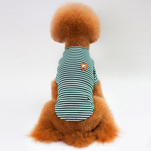 Lovely Striped Fine Design Summer Cotton Puppy Shirt - Woof Apparel