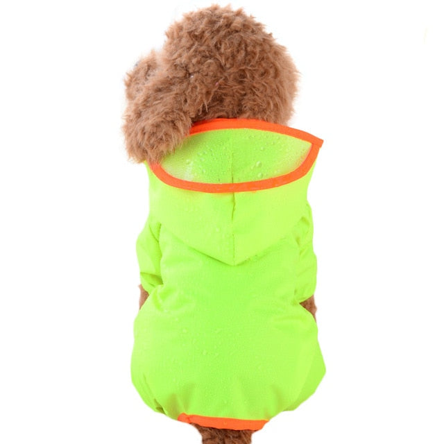 Cute Candy Colored Waterproof Hoodie With Brim Raincoat - Woof Apparel