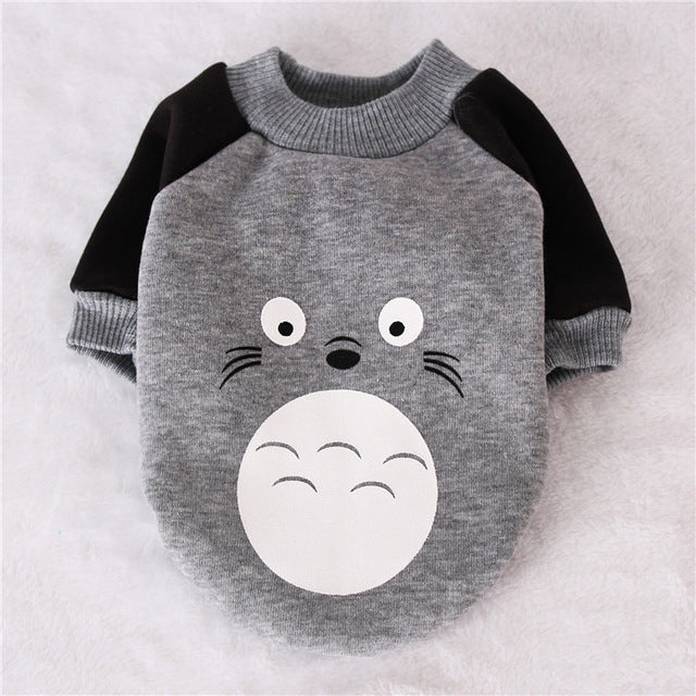 My Neighbor Totoro Winter Outfit Gray Puppy Sweatshirt - Woof Apparel