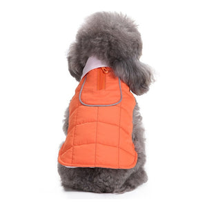 4 Colors Winter Puppy Vest With Zipper For Small Dogs - Woof Apparel