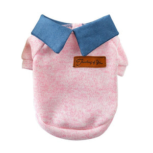 Cute Warm Knitted Formal Winter Sweatshirt For Dogs - Woof Apparel