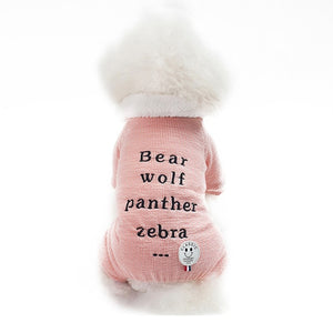 Pastel Soft Warm Winter Jumpsuit For Small Dogs Puppy Overall - Woof Apparel