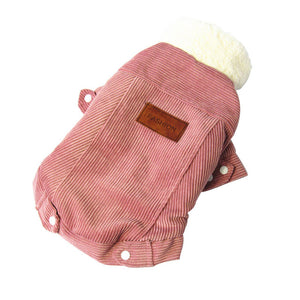 Thick Corduroy Fleece Warm Winter Dog Coat For Small Dogs - Woof Apparel