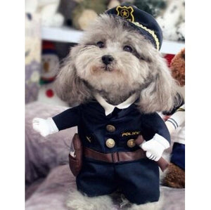 Police Officer Cop with Hat Funny Standing Costume for Dog - Woof Apparel