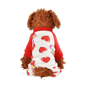Cozy Winter Pajamas Thin Fleece Jumpsuit For Small Dogs - Woof Apparel
