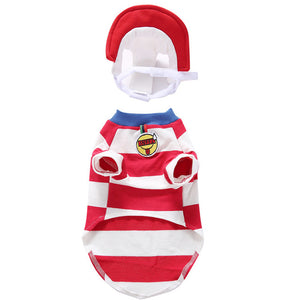 Christmas Cute Red Stripe Costume For Dogs - Woof Apparel