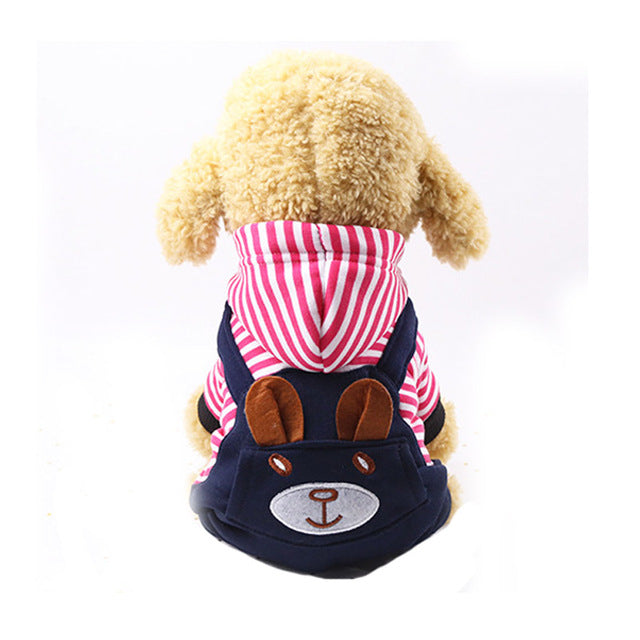 Cartoon Bear Winter Warm Dog Hoodie Overall For Small Dogs - Woof Apparel