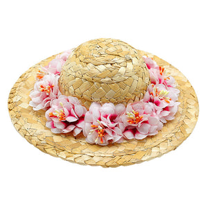 Stylish Hawaiian Floral Design Dog Hat For Summer - Woof Apparel