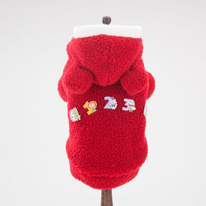 Adorable Cotton Fleece Mickey Number Design Dog Hoodie - Woof Apparel