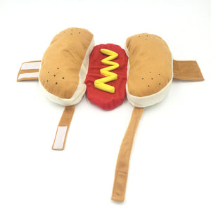Funny Hotdog Bun with Mustard Food Costume for Dog - Woof Apparel